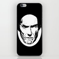 clint eastwood iPhone & iPod Skins featuring Clint Eastwood by Zombie Rust