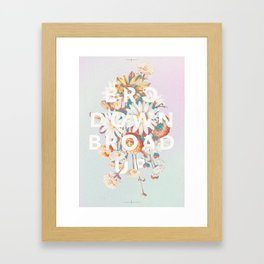 Bro Down, Broad Up Framed Art Print