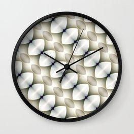 Horizontal Diamond Ovals Neutral Wall Clock