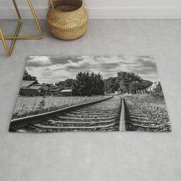 Gödenstorf countryside railroad Rug