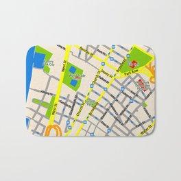 NEW YORK map design Bath Mat