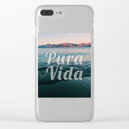 Pura Vida Clear iPhone Case