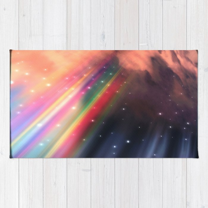 Under The Rainbow Sky Rug