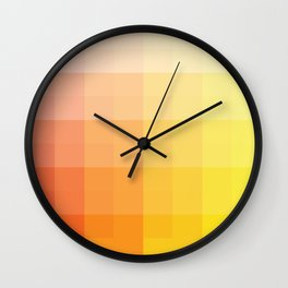 citrus pixelate Wall Clock