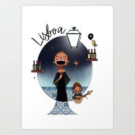 Lisboa Menina e Moça Art Print