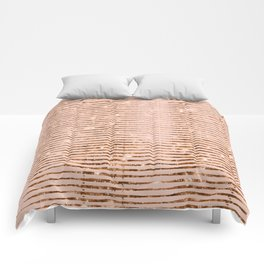 Rose Gold Sparkle Comforters