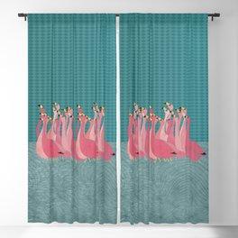 Pink flamingos Blackout Curtain