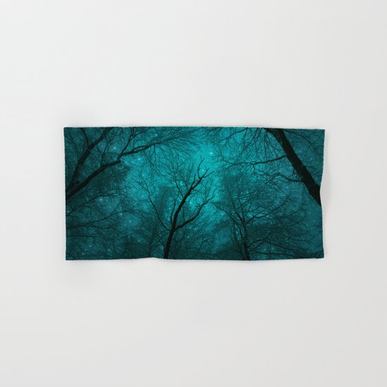 Simply Stare Upward (Dark Winter Sky) Hand & Bath Towel