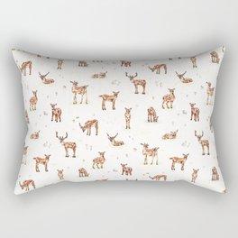 Watercolour Deer & Mushrooms Rectangular Pillow