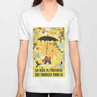 portugal V-neck T-shirts featuring Portugal by Kathead Tarot/David Rivera