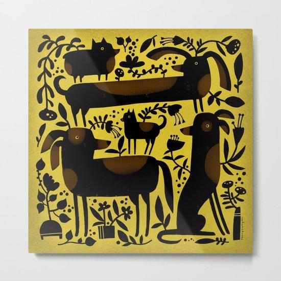 GARDEN DOGS Metal Print