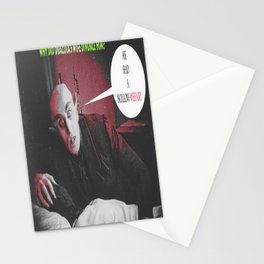 """'Count Orlock, the Vampire #3' from """" Nosferatu vs. Father Pipecock & Sister Funk (2014)"""" Stationery Cards"""