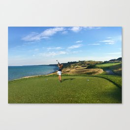 Whistling Straits Girl Golfer Canvas Print
