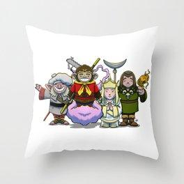 Monkey Magic Crew! Throw Pillow