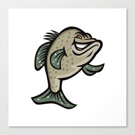 Crappie Fish Standing Mascot Canvas Print