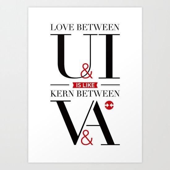 Kerning Love Art Print