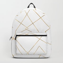 Modern Gold Geometric Strokes Abstract Design Backpack