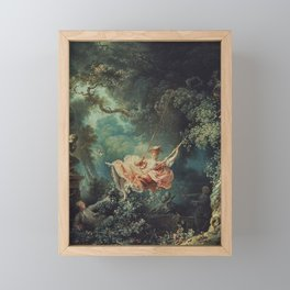Jean-Honore Fragonard: The Happy Accidents of the Swing Framed Mini Art Print