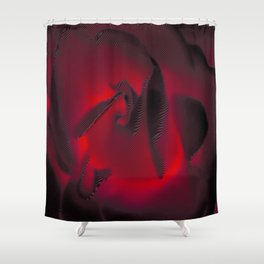 Red Hot Glow Shower Curtain
