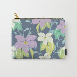 Verona floral navy Carry-All Pouch