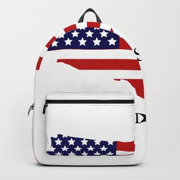 United States map with flag Backpack