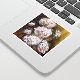 White Roses Sticker