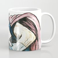 thor Mugs featuring Thor by Crooked Octopus