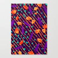 psychadelic Canvas Prints featuring Psychadelic Natural Pattern #5 by Andrej Balaz