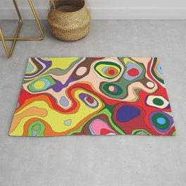 Abstract Colour Art Rug