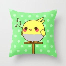 Kawaii birdy Throw Pillow
