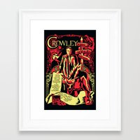 crowley Framed Art Prints featuring Crowley by Tracey Gurney