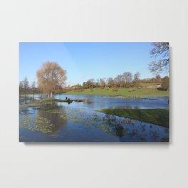 On Lake Gadebridge Metal Print