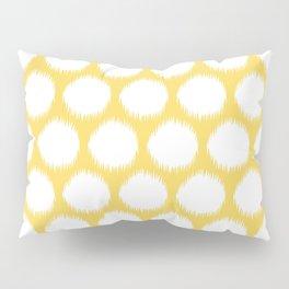 Pale Yellow Asian Moods Ikat Dots Pillow Sham