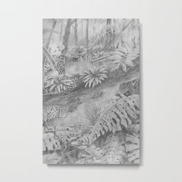 Rainforest in Pencil 2 Metal Print