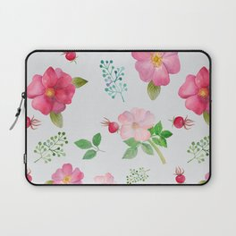 Rosehip Spring Garden Floral Pattern Laptop Sleeve