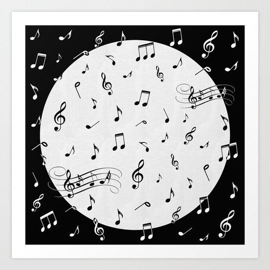 Music Black and White Art Print
