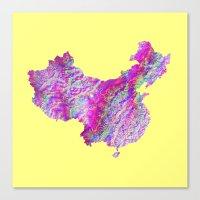 china Canvas Prints featuring China by mthbt