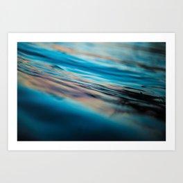 Oily Reflection Art Print