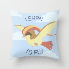 Pidgeot  learn to fly Throw Pillow
