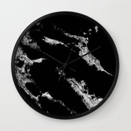 black marble no. 2 Wall Clock
