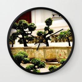 Bonsai Planters Wall Clock