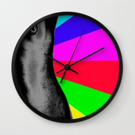 Body with Rainbow Wall Clock