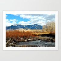 montana Art Prints featuring Montana by Emily DiLaura