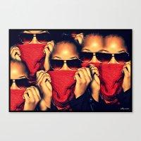 robin hood Canvas Prints featuring Red Robin Hood by Ashleynaomi