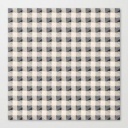 ANTHOLOGY OF PATTERN SEVILLE GINGHAM BLACK Canvas Print
