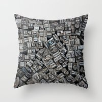 letters Throw Pillows featuring Letters, Letters, Letters by Ehud Neuhaus