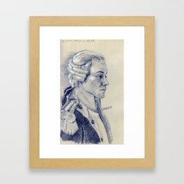 lafayette in pencil Framed Art Print