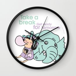 Lala's Adventure - A Smile is a curve that sets everything straight. Wall Clock