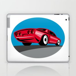 American Muscle Car Oval Retro Laptop & iPad Skin