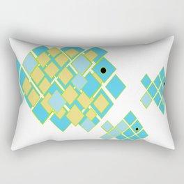 fish mom and babies Rectangular Pillow